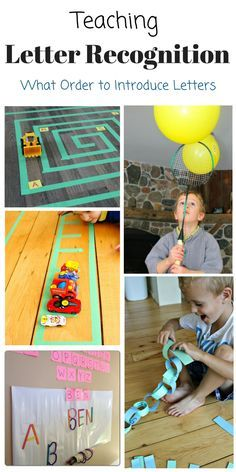 These are such fun games to teach letter recognition and great tips on how to introduce letters!
