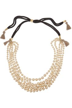 J.CREW Faux pearl and cotton tassel necklace €62.50 http://www.net-a-porter.com/products/479051