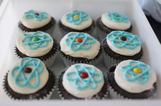 Squirrels-n-Sweets: Science Themed Birthday Cake and Dairy-Free Cupcakes