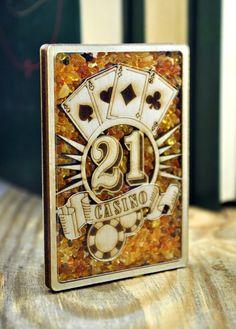 Fridge magnet filled with natural Baltic amber by Bernsteinufer Handmade Wooden, Handmade Gifts, Baltic Amber, Magnets, Natural, Unique Jewelry, Cards, Etsy, Vintage