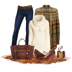 Rusty Gold Leaves, created by myfavoritethings-mimi on Polyvore