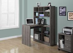 Twisty bureau bureau modulable blanc avec étagères et tiroirs