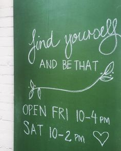 Looking forward to playing shop-keeper tomorrow!  #kindredself #cuteshop #bekindtoyourself #shoplocal #shopsmall #tinyshop #chalkboard #greenchalkboard by kindred_self