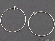 Sterling Silver Extra Large Round Circle Hoop 37mm by Beadspoint, $11.99