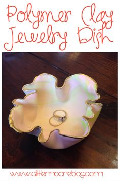 Marbled Polymer Clay Jewelry Dish Tutorial