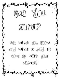 Context Clues Graphic Organizer- Making inferences about t