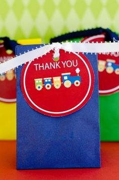Choo Choo Train Birthday Party PRINTABLE Favor Tags by Love The Day. $5.00, via Etsy.