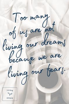 Too many of us are not living our dreams because we are living our fears. #anxiety #fear #dreams #selfimprovement #mentalhealth 6 Natural Ways to Reduce Anxiety. #anxiety #naturalremedies #reduceanxiety Living Simply Blog by Ali Michelle is a personal growth and mental health blog providing strategies to strengthen your resilience, self-worth, and positivity for more balanced mental health.
