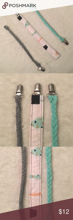 Pacifier Clips! • Adorable Pacifier Clips!                                           • 2 for $8, 3 for $12!                                                    • Special orders welcome!                                        • Inquiry welcome! Accessories
