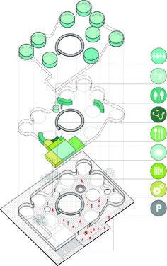 FP Arquitectura, primer lugar en concurso Ambientes de Aprendizaje del siglo XXI: Jardín Infantil Tibabuyes,Programa. Image Cortesia de FP arquitectura