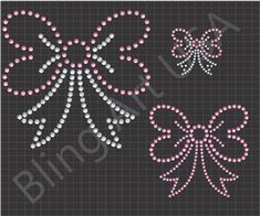 Bows Rhinestone Downloads Files Ribbon Patterns Template Cheer Bows Bling Bow Art Hair Bow Stencil System Hair Clip Easy Color