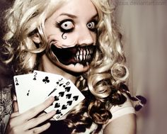 insanely creepy Halloween makeup... need to get this skilled with my brushes!