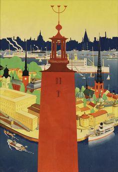 Hallå!: 25 Vintage Posters from Sweden - 50 Watts