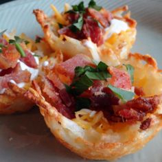 Potato skins are always a favorite appetizer to serve at parties and events.   Sometimes, it's nice to do an updated more elegant version to serve at a luncheon, brunch or tea.  Or, as a side dish for a delicious dinner frittata.