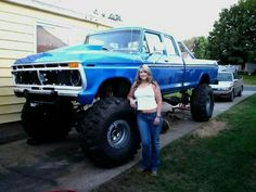 These Girls Love Diesel Trucks. Read more. Diesel Trucks, Big Ford Trucks, 1979 Ford Truck, Classic Ford Trucks, Lifted Chevy Trucks, Ford 4x4, Cool Trucks, Lifted Dually, Trucks And Girls