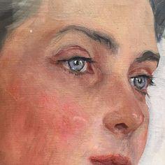 close up of portrait of Princess Zenaida Youssoupoff by Valentin Serov