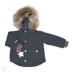 MINI A TURE WALLY FUR JACKET - OMBRE BLUE £105.00 from http://www.naturalbabyshower.co.uk/collections/coats-outerwear/products/mini-a-ture-wally-fur-jacket-ombre-blue?variant=1098690587