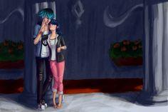 Luka and Marinette by JessicaNyuchi