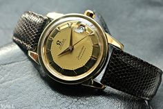 Gorgeous & Rare Vintage Omega Seamaster Pie-Pan In Solid Gold #Watchporn #Watches #Boss #Menswear #Omega  omegaforums.net