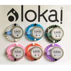 $32 for 5 Lokai Bracelets - Any Color - Any Size This listing is for 5 Lokai Bracelets. Each Lokai is infused with elements from the highest and lowest points on Earth. The bracelet's white bead carries water from Mt. Everest, and its black bead contains mud from the Dead Sea. Package will come with your choice of any 5 Lokai Bracelets. Please leave me a comment with the colors and sizes your like. If you need more Lokai Bracelets send me a comment and let me know what you need. I will make…