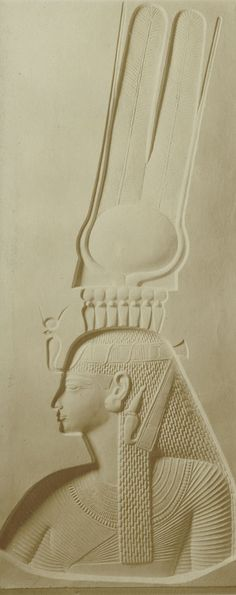 Title: Relief of Princess Bintanat (plaster copy)  Photographer: Émile Brugsch (?)  Time Period: New Kingdom - Dynasty XIX