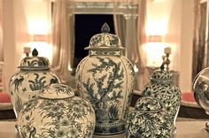 Photo of vases from the La Residence 5 Star Luxury Hotel Suites in Mykonos Boutique Shop.