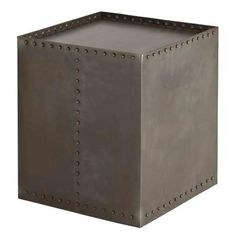 Richland Industrial Loft Iron Riveted Cube Side Table #kathykuohome