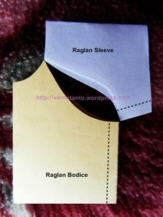 Raglan Bodices & Sleeve Patterns (with tips for different lines by shoulder type) Easy Sewing Patterns, Sewing Tutorials, Clothing Patterns, Pattern Drafting Tutorials, Camisa Raglan, Sewing Sleeves, Bodice Pattern, Sewing Blouses, Sewing Lessons