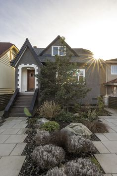 Feast your eyes on this East Van trophy, hosting 3 contrasting suites, each with their own dazzling features! The main home has been renovated masterfully to preserve the unique character features while showing off its contemporary flow. The expansive living room boasts original wood inlays & built-ins; the stylish gourmet kitchen features a gas range, s/s appliances, cork flooring & skylights over the airy dining room with vaulted ceilings. Details: www.ruthanddavid.com #vancouverrealestate Vancouver Real Estate, Cork Flooring, Vaulted Ceilings, Skylights, East Side, Real Estate Marketing, Built Ins, Single Family, Preserve