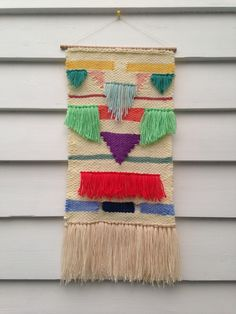 Woven tapestry by Maryanne Moodie Weaving Wall Hanging, Weaving Art, Tapestry Weaving, Hand Weaving, Fabric Paper, Woven Fabric, Fabric Manipulation, Weaving Techniques, Textile Art