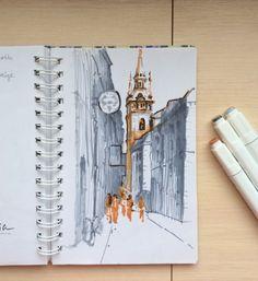 Marker sketching by Galina Elevterova #art #sketchbook #draw #sketch #sketching #markers #illustrator #artist #design