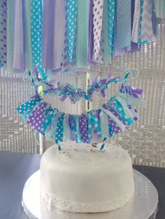 Cake Garland in Purples, Aqua and Mint.  Baby shower, Birthday Good idea for Frozen themed party!