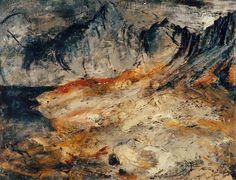 ✽ john piper - 'slopes of the glyders' - bbc your paintings Oil Painting Abstract, Love Painting, Abstract Art, Abstract Landscape, Landscape Paintings, Landscapes, John Piper Artist, Environment Painting, Royal College Of Art
