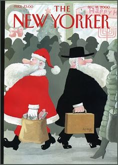 The Greatness of Art Spiegelman's 'New Yorker' Cover Art Christmas Tree And Santa, Christmas Cover, Christmas Art, Christmas And New Year, Vintage Christmas, The New Yorker, New Yorker Covers, Capas New Yorker, Art Spiegelman