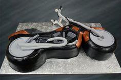 motorcycle grooms cake