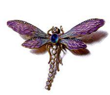ART NOUVEAU  Drangon Fly Pin.