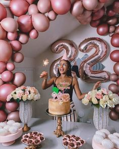 21st Bday Ideas, Birthday Ideas For Her, Birthday Goals, Birthday Balloon Decorations, Birthday Party For Teens, 18th Birthday Party, Birthday Balloons, Birthday Celebration, Birthday Party Themes