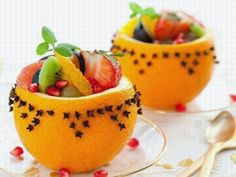 Fruit salad presentation