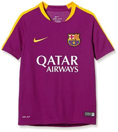 Nike Fcb Flash B Ss Top - Camiseta Fútbol Club Barcelona para niño Official 2015  2016 Barcelona Kids Training Jersey 24f51c1014a