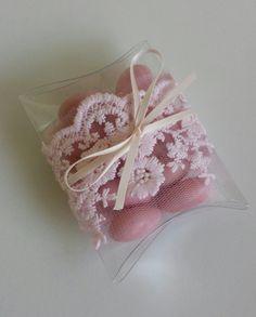 Pink Sugar Coated Almond pocket Bomboniere