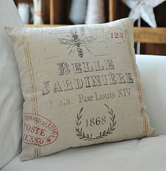 Vintage inspired French Postcard cushion...beautiful!