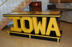 An Iowa Hawkeyes bar I built 3ft by 8ft