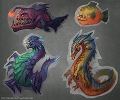 Some denizens of the deep? | Creatures by FirstKeeper