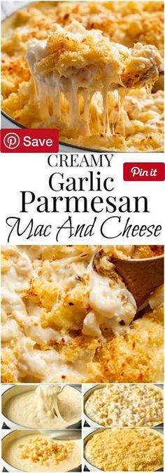 Creamy Garlic Parmesan Mac And Cheese - Garlic Parmesan Mac And Cheese is better than the original! A creamy garlic parmesan cheese sauce coats your pasta topped with parmesan Ingredients Produce 4 cloves Garlic Canned Goods 1 tbsp Chicken bouillon powder