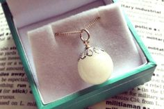 Large Pearl Pendant by The Milky Way Bespoke Breastmilk Jewellery (UK and Worldwide) - a unique and beautiful keepsake to remind you of your breastfeeding journey