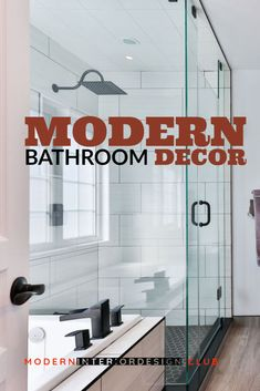 Ideas for Modern-Style Bathrooms - Not all bathrooms have to be cold and sterile to be modern. Take this example, a contemporary master bathroom. ** More info could be found at the image url. Interior Design Work, Bathroom Interior Design, Modern Bathroom Decor, Room Paint, Home Renovation, Master Bathroom, Design Projects, Branding Design, Bathrooms