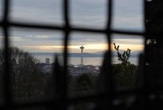 A view of the Space Needle from the Volunteer Park Water Tower on Capitol Hill in #Seattle.