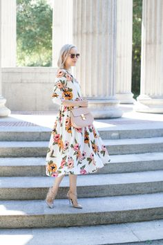 d00ea838374af Lombard and Fifth looking lovely in Dainty Jewell s summer Pocketful of Poppies  modest dress. Modest