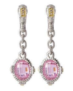 Pink Arielle Earrings by Judith Ripka at Neiman Marcus Last Call.