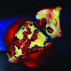 Melograni olio su tela - 50x50 cm  € 500,00
